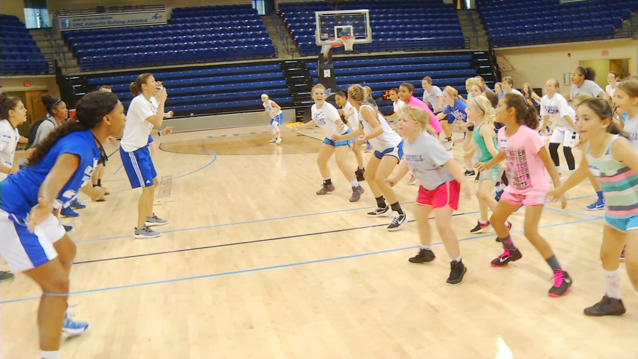 UNC Asheville Women's Basketball Camp, this week's Game Changer, highlights the real point of these summer staples -- recruiting. (Photo credit: WLOS staff)