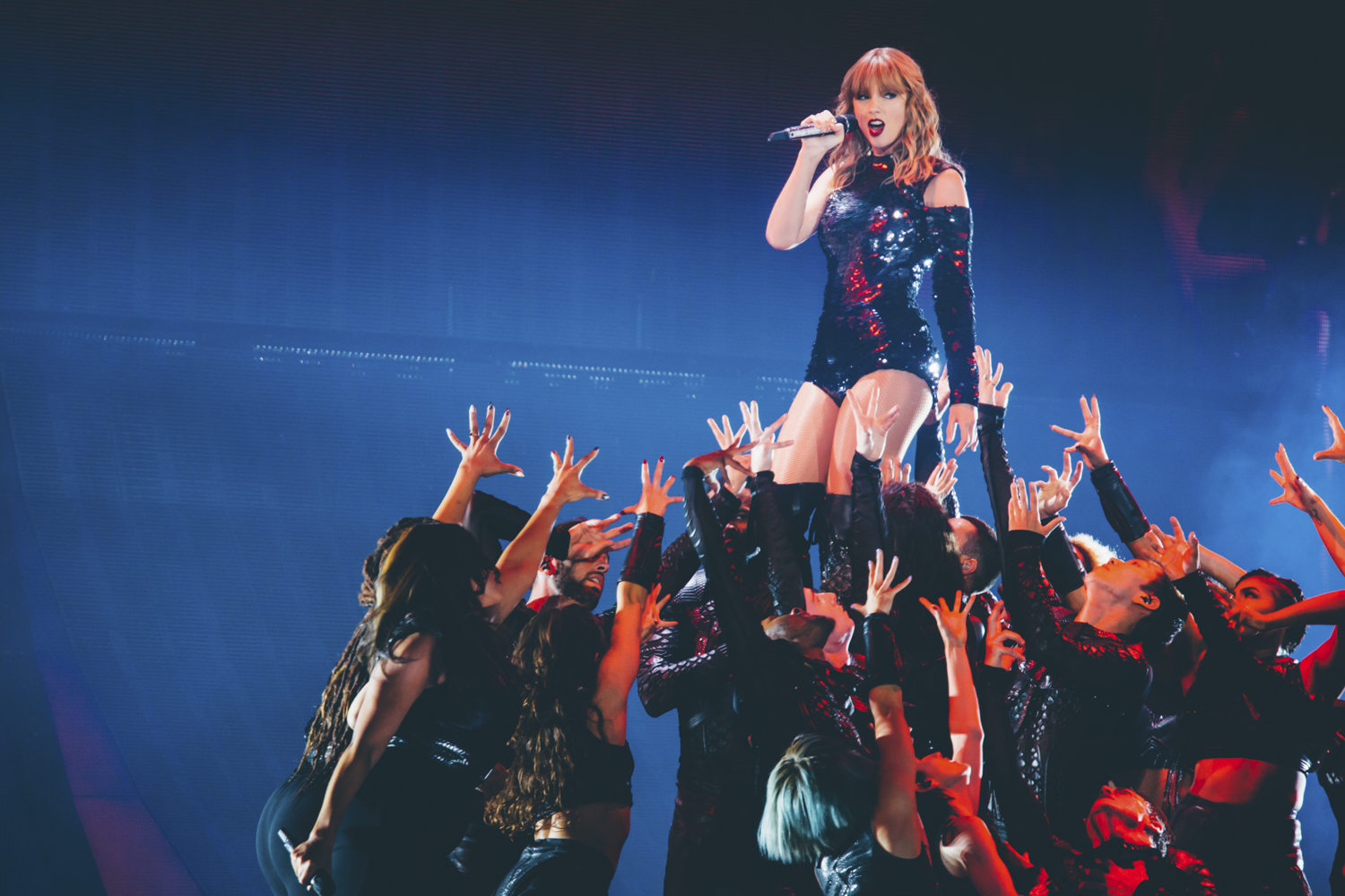 "Taylor Swift brought her ""Reputation"" tour to CenturyLink tonight (May 22, 2018). Over 60,000 people were expected to be in and around the SoDo area in Seattle. Despite the traffic, it was everything we could have ever imagined! (Image: Sunita Martini / Seattle Refined)"