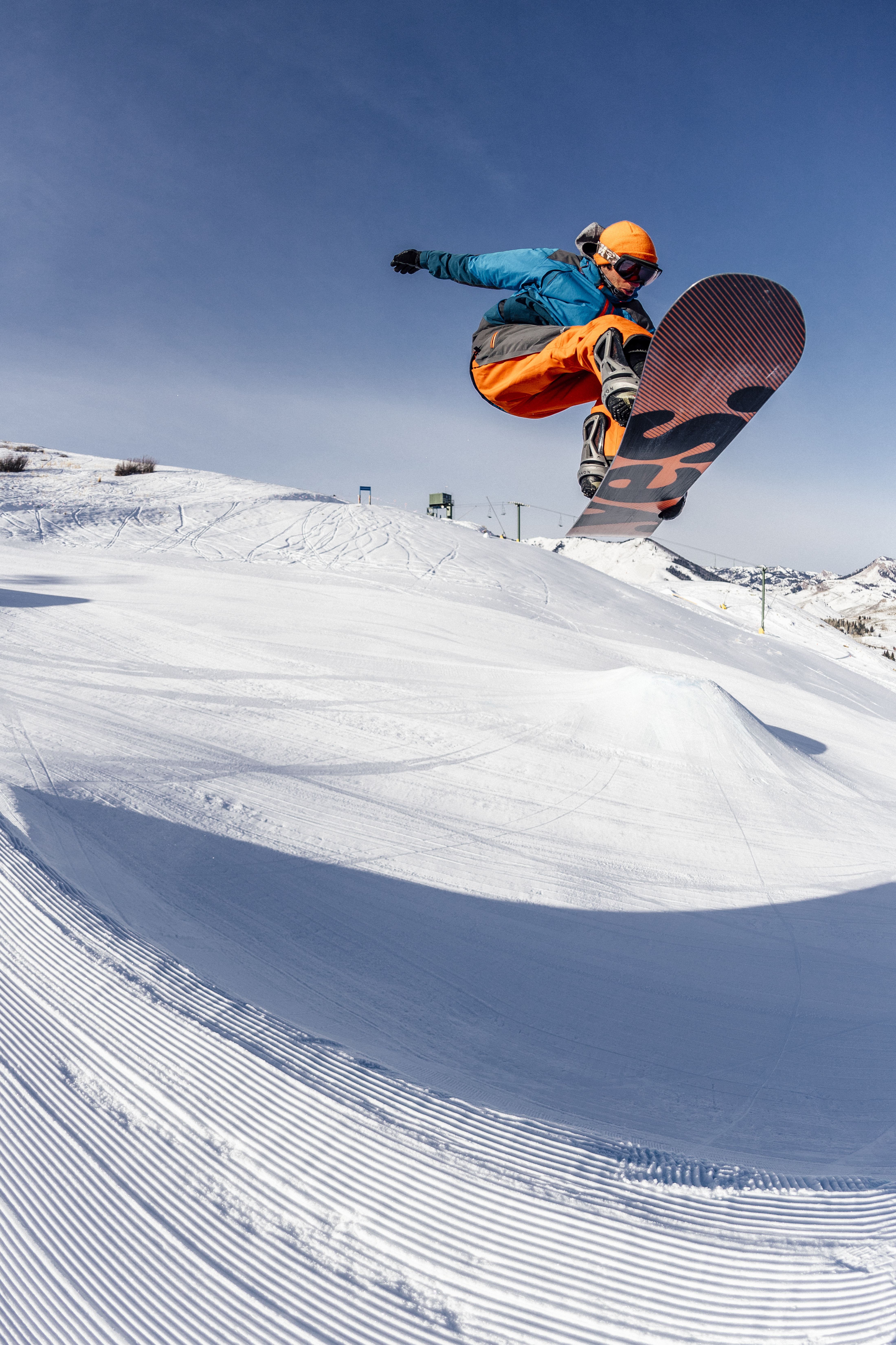 Date: February 2018Photo Credit: Courtesy Sun Valley ResortPhotographer: ? Tal RobertsPhoto Caption: Terrain Park on Dollar Mountain.