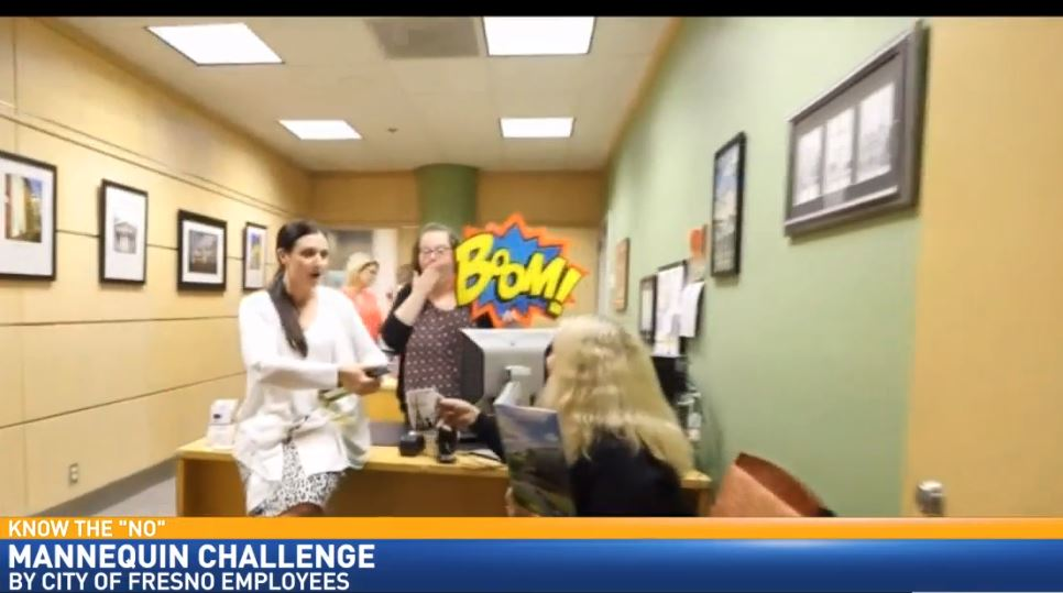 Taking the  Mannequin Challenge at Fresno City Hall - Boom!