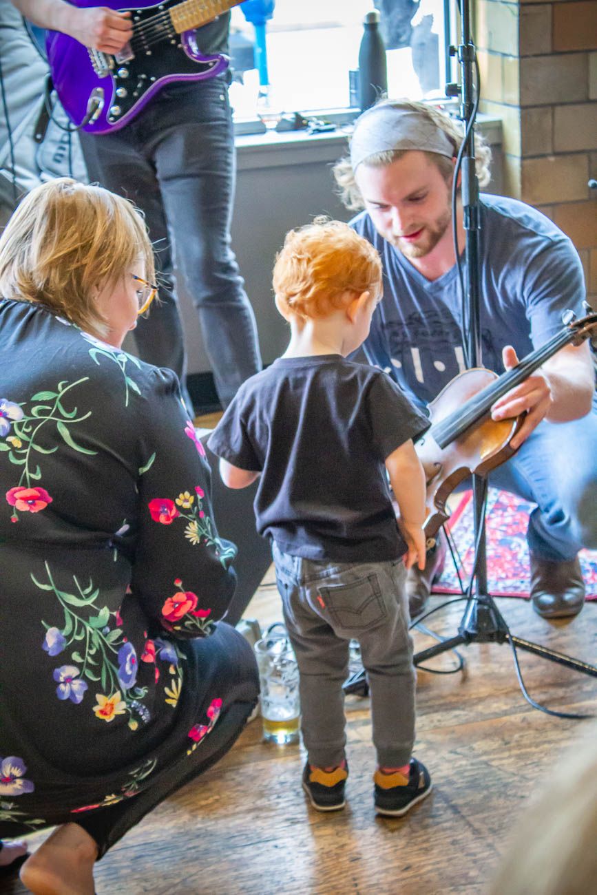 A young Brother Smith fan tried joining the band. / Image: Katie Robinson, Cincinnati Refined // Published: 4.19.19