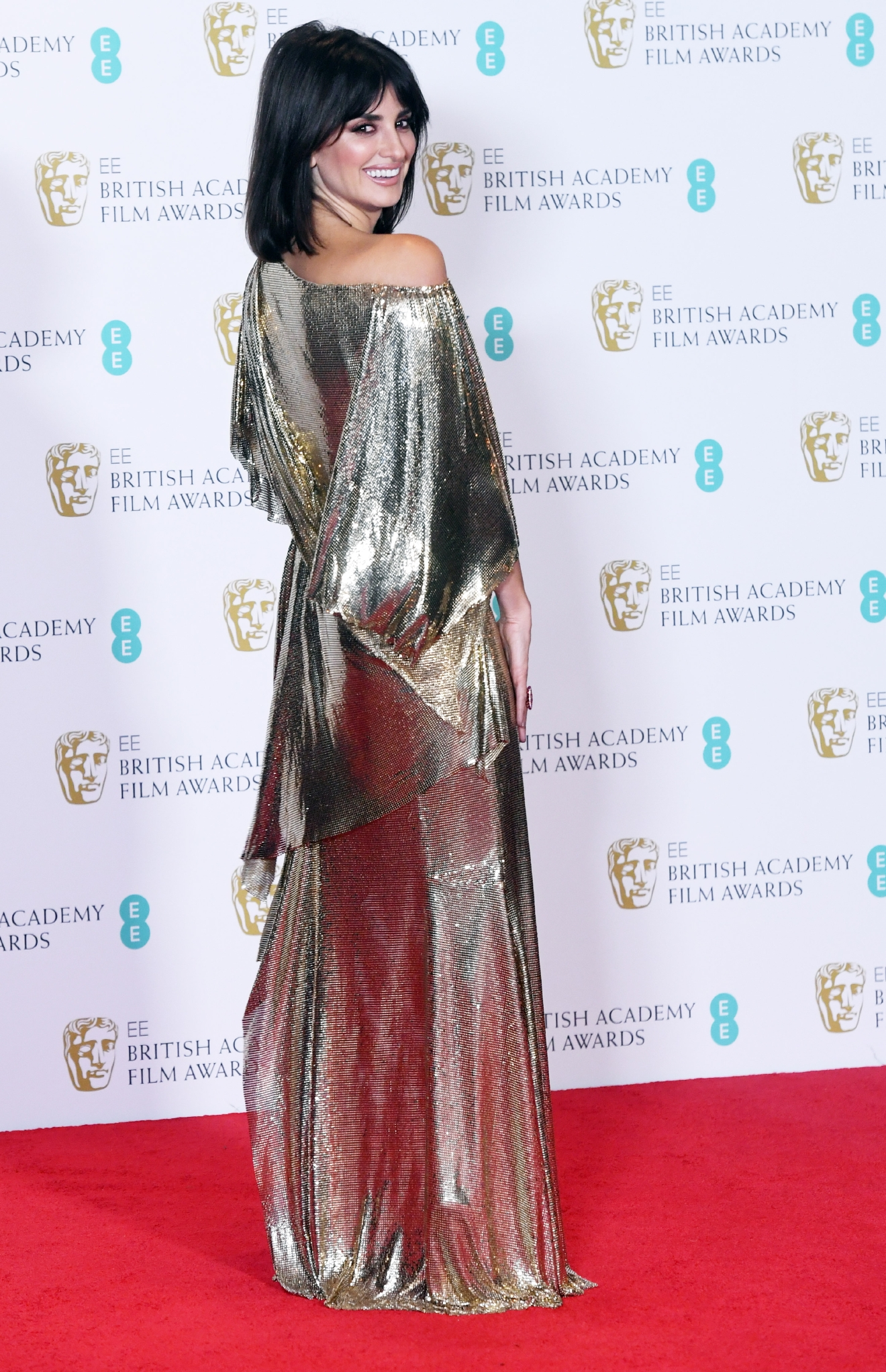 Penelope Cruz attends the 2017 EE British Academy Film Awards (BAFTAs) in London, Feb. 12, 2017. (WENN)