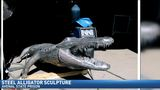 Alligator sculpture created in prison looking for new home