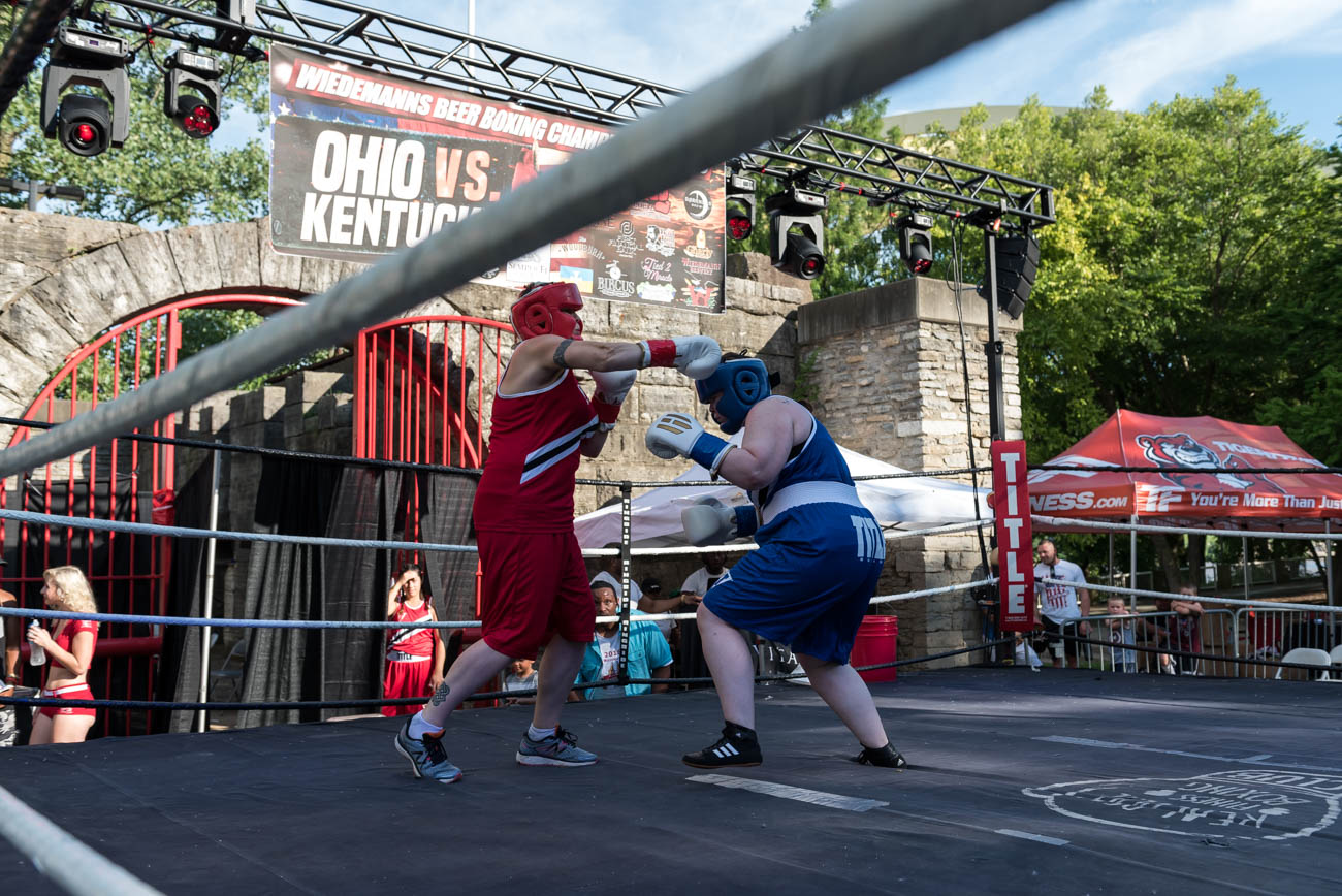 The Wiedemann's Beer Boxing Championships took place on Saturday, June 30 at Sawyer Point. The charity boxing event (and beer festival) benefitted the Semper Fi Fund. It was hosted by The Punch House (local boxing gym in North Avondale) and Wiedemann's Brewery. / Image: Mike Menke // Published: 7.1.18