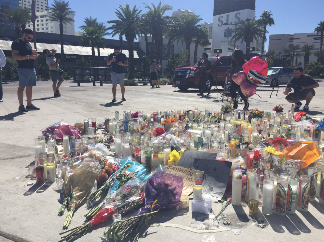The Las Vegas community has come together to show their support and strength after the mass shooting on the Strip. (Denise Rosch | KSNV)