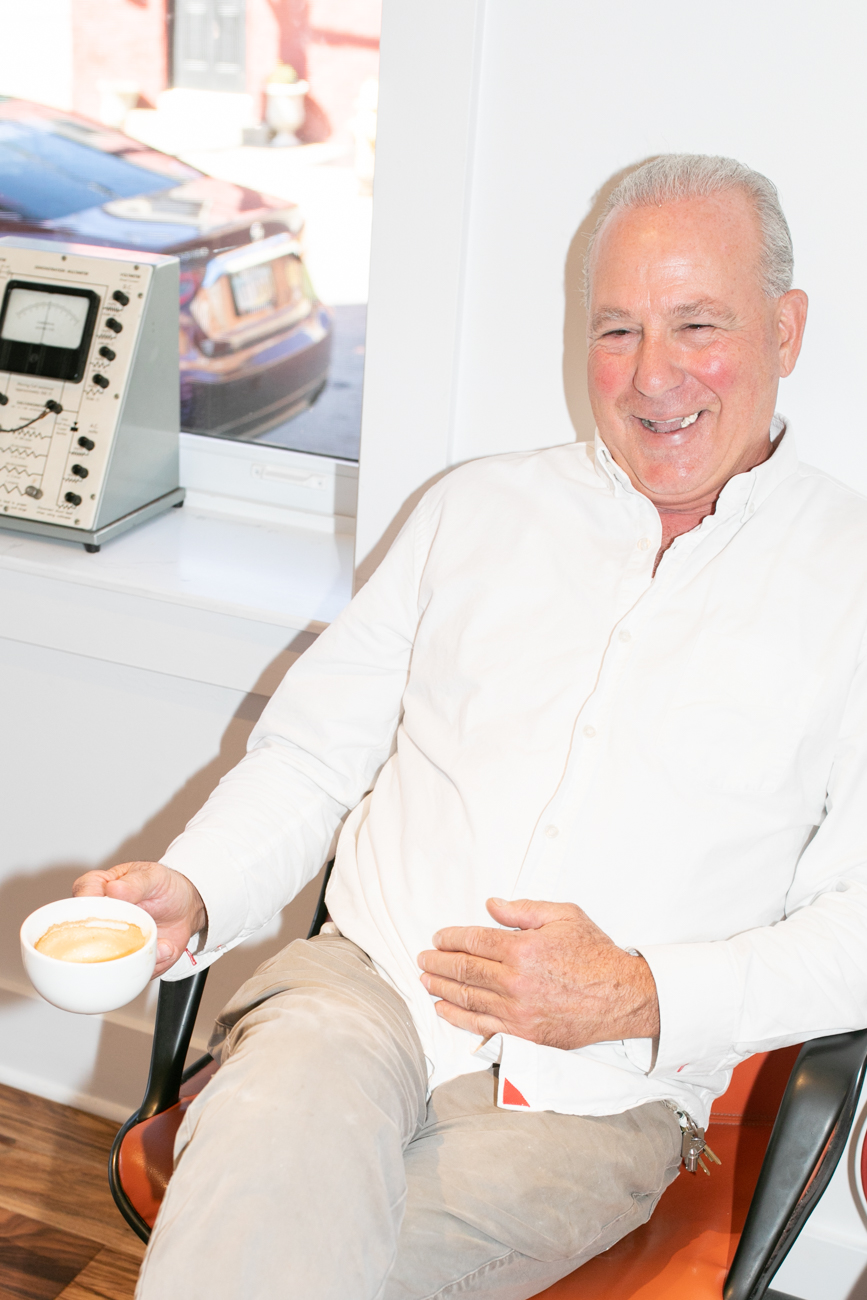 Owner Nick Ganim, Sr. enjoying an afternoon coffee / Image: Amy Elisabeth Spasoff // Published: 10.26.18