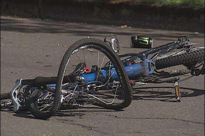 Police say a bicyclist was injured in Springfield Wednesday, May 10, 2017 when he or she was hit by a vehicle involved in a speed contest. (SBG photo)