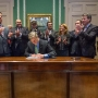 Baker signs bill doubling the line of duty death benefit