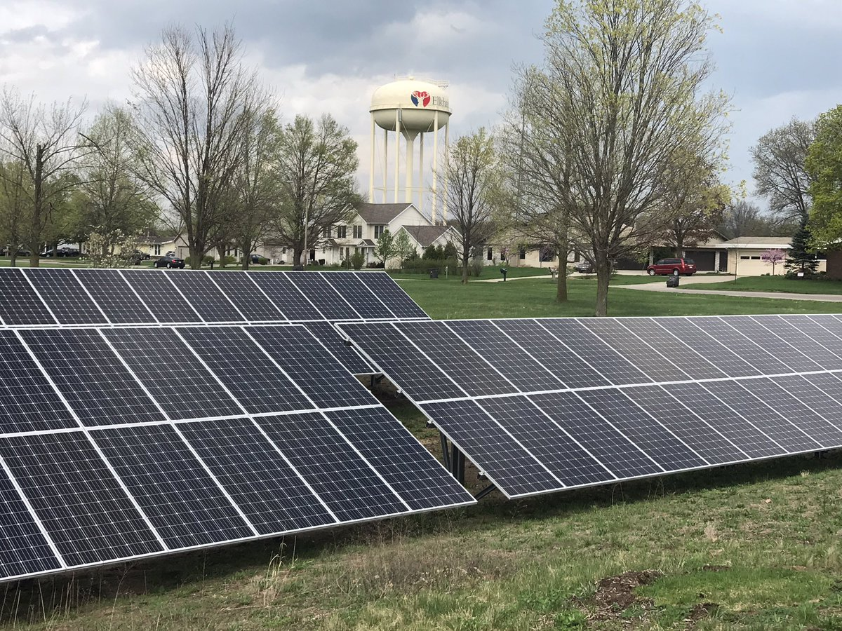 Anabaptist Mennonite Biblical Seminary has new solar panels to help power the school. // WSBT 22 photo