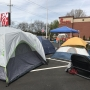Campers stay overnight for free Chick-fil-A for a year