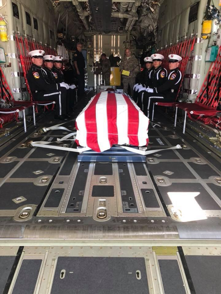 Matt Burchett casket (Photo: Chief Nick Schuler)