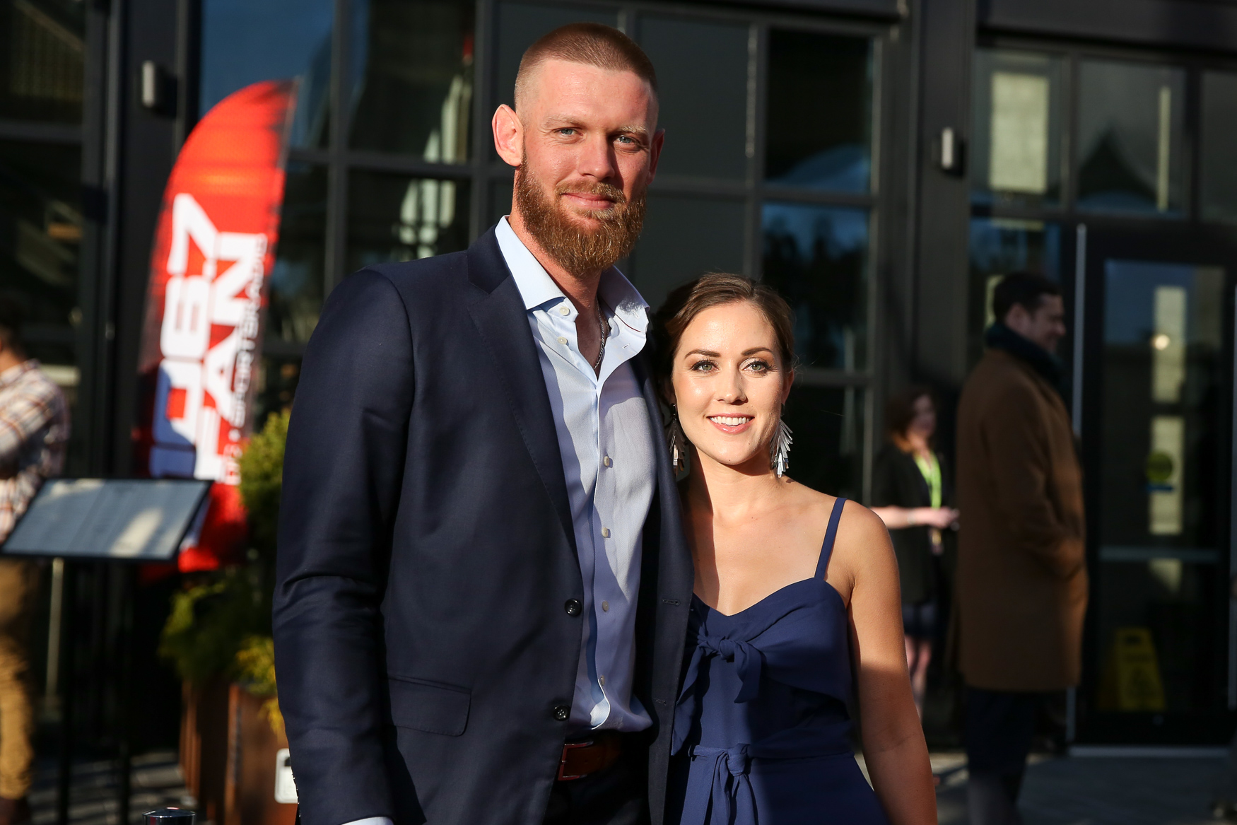 Stephen Strasburg and his wife Rachel Lackey.{ }(Amanda Andrade-Rhoades/DC Refined)