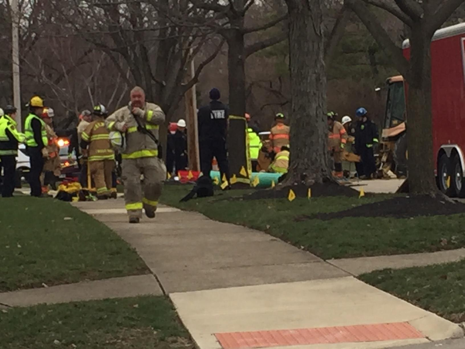 Person reportedly trapped after trench collapse in Oakwood neighborhood. (WKEF/WRGT)