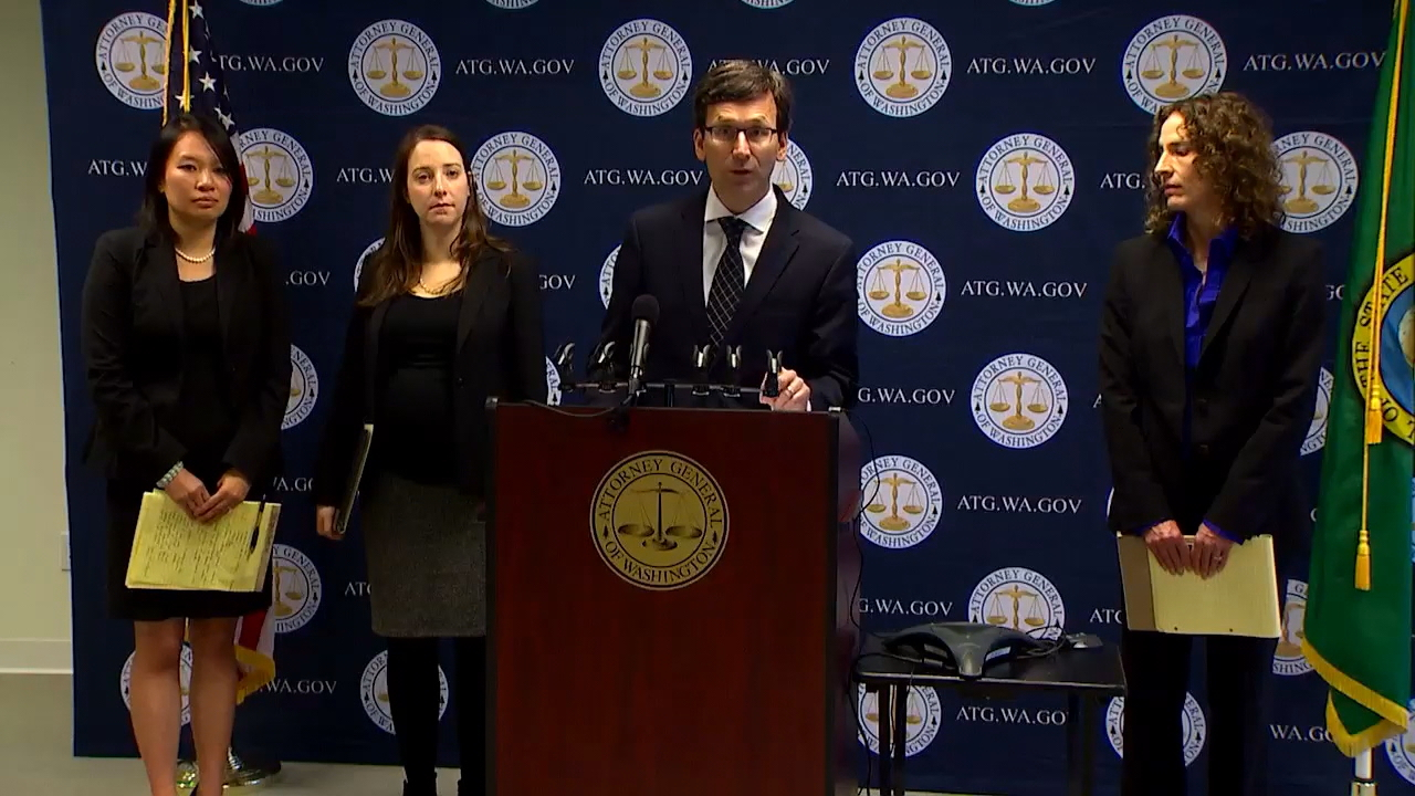 Washington Attorney General Bob Ferguson's office has filed suit against Uber, claiming the ride-share company broke state law by failing to disclose a mammoth data breach to his office and victims. (Photo: KOMO News)