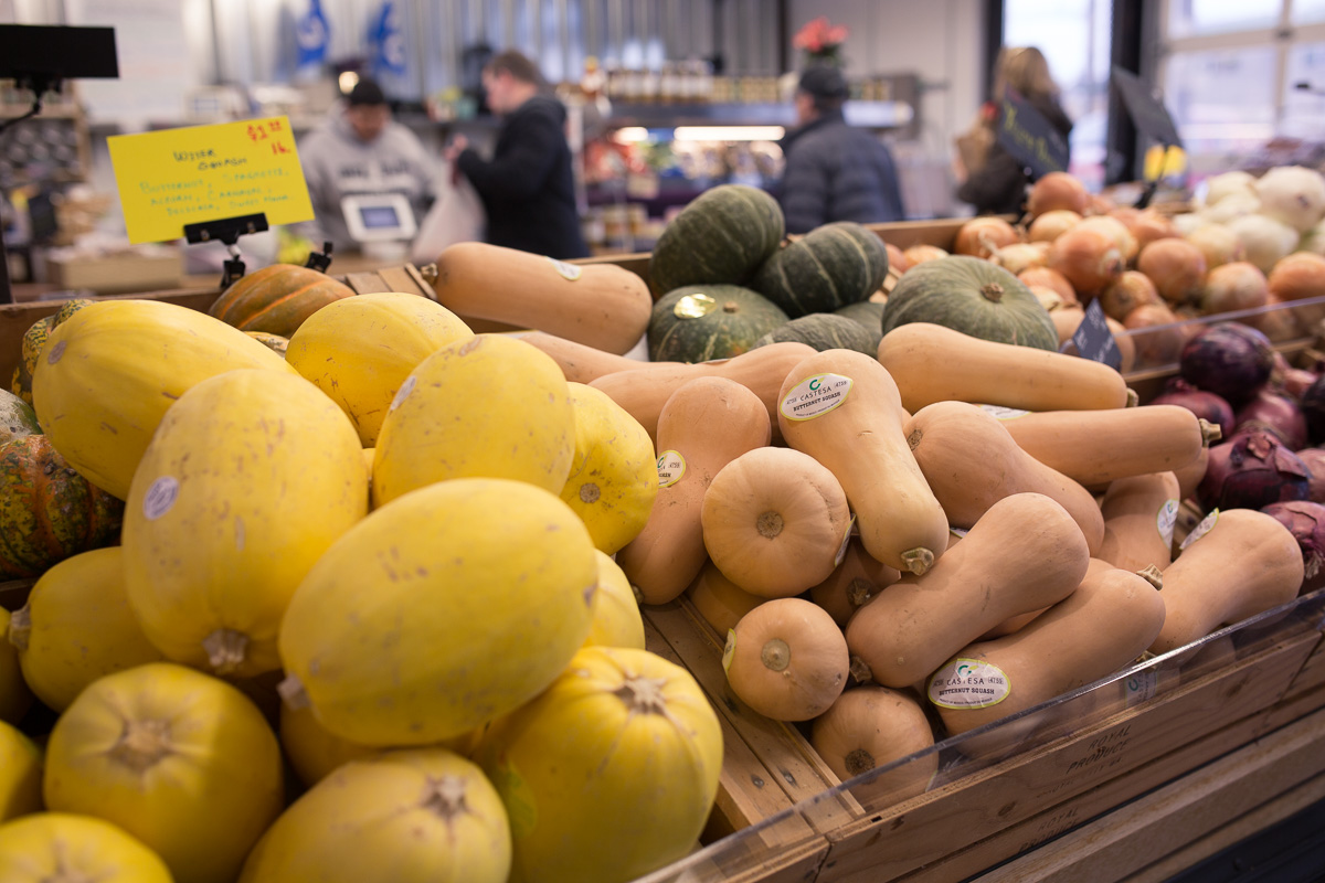 Winter produce at Pybus Market (Image: Paola Thomas / Seattle Refined)