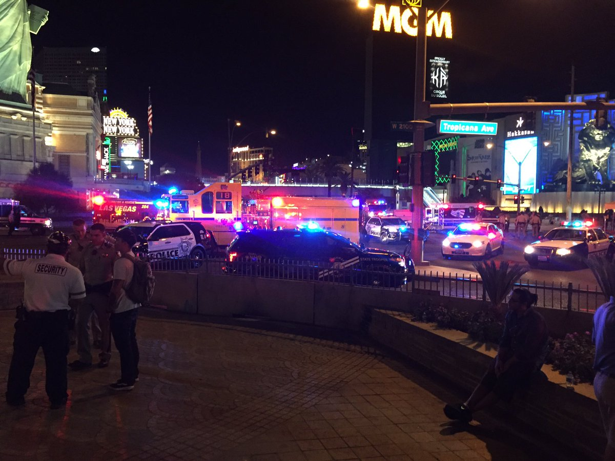 An unimaginably dark day on the famed Las Vegas Strip. At least 50 dead, at least 406 injured.  The shooter's motive is a mystery (Craig Fiegener | KSNV)