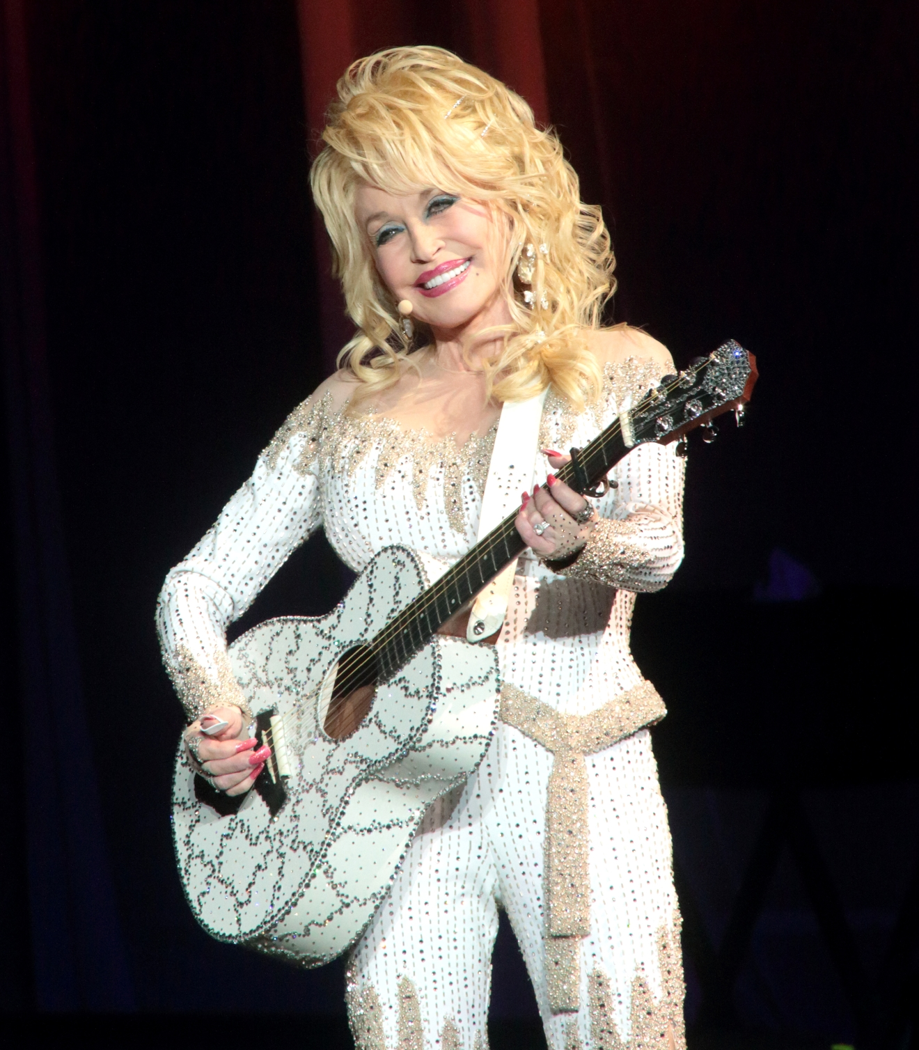 Dolly Parton performs in concert during her Pure & Simple Tour at The Mann Center for the Performing Arts on Wednesday, June 15, 2016, in Philadelphia. (Photo by Owen Sweeney/Invision/AP)