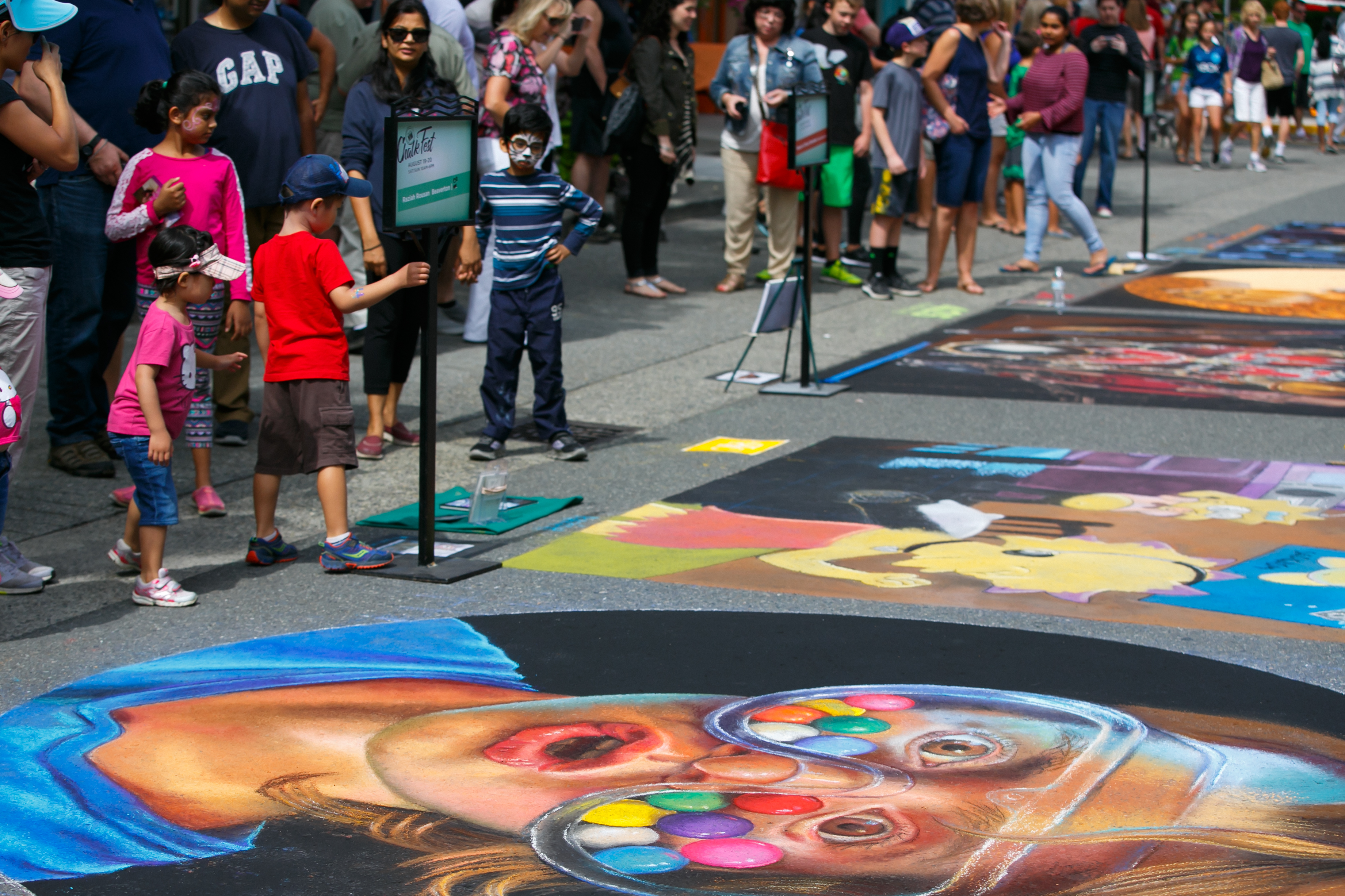 "The first annual Pacific NW Chalk Fest in Redmond over the weekend was a HUGE success. And when we say huge, we mean ""extended-for-two-more-days"" huge! Renowned street artists from all over the world came out to Redmond as they transformed pavement to absolute gold. These photos are great, but you have to see it for yourself to truly believe it. And you can! Exhibits will be up for viewing through August 22, 2017. (Image: PNW Chalk Fest)"