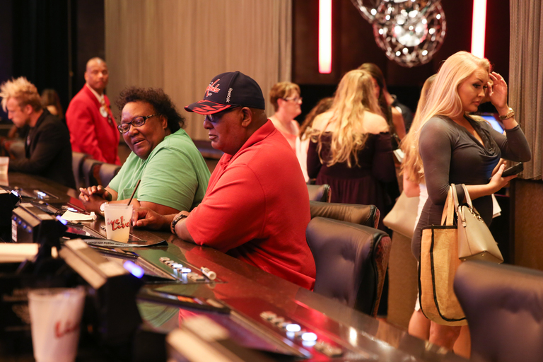 Although they weren't there for the auditions, Maggie and Leonard Mcneal were still out enjoying their date night at the casino. The Ellicott City couple met through friends. They've been married for 43 years. (Amanda Andrade-Rhoades/DC Refined)