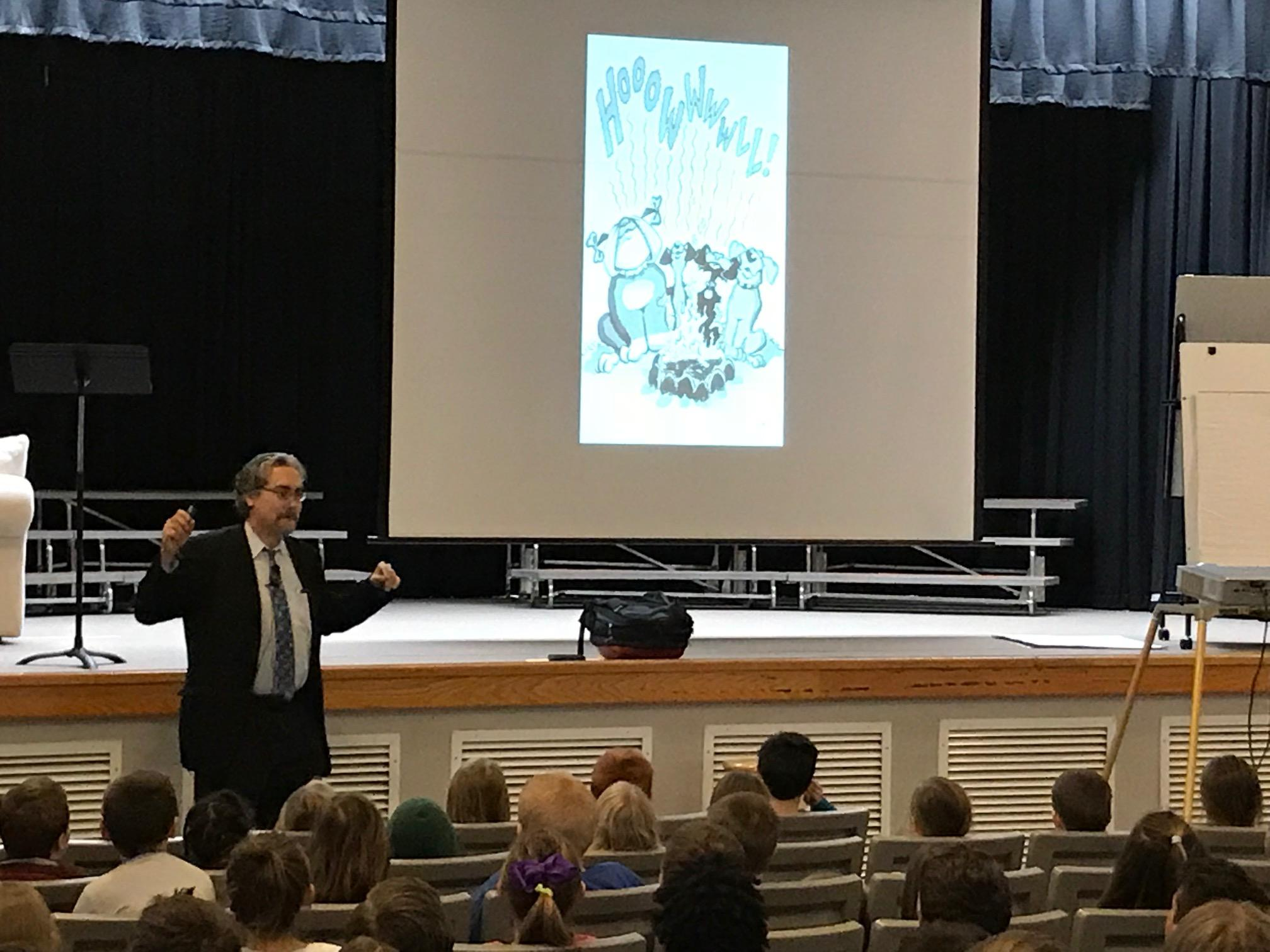 "A visiting author is inspiring local children to read, write and use their imaginations. The creator of the beloved and bestselling ""Bad Kitty"" books was here in the mountains. (Photo credit: WLOS Staff)"