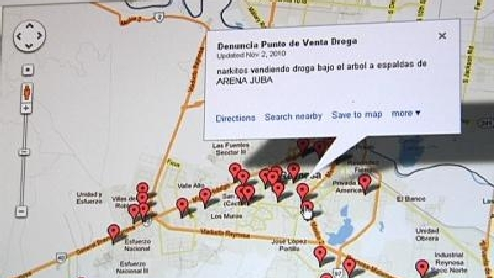 Social media, Google Maps used to report drug dealers in Reynosa   KGBT