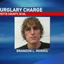 Man charged after homeowner sees burglary from security system cell phone video