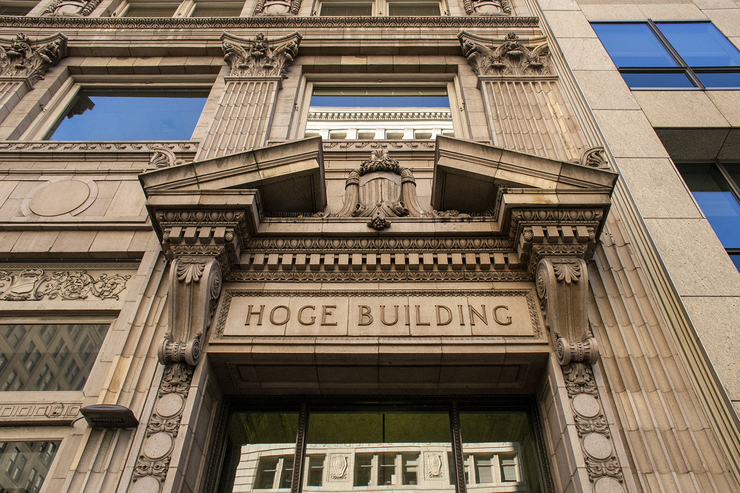 The late James D. Hoge was a successful banker and real estate investor — so successful that he commissioned the construction of his very own building. The 17-story, Beaux-Arts style Hoge Building was built in 1911, just after the Great Seattle Fire. (Image: Rachael Jones / Seattle Refined)