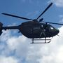 Helicopter search and rescue team performs training exercise
