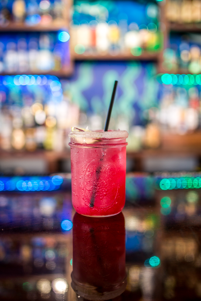 Prickly Pear Margarita: reposado tequila, triple sec, house mix, lime, and fresh prickly pear juice / Image: Catherine Viox{ }// Published: 6.9.19