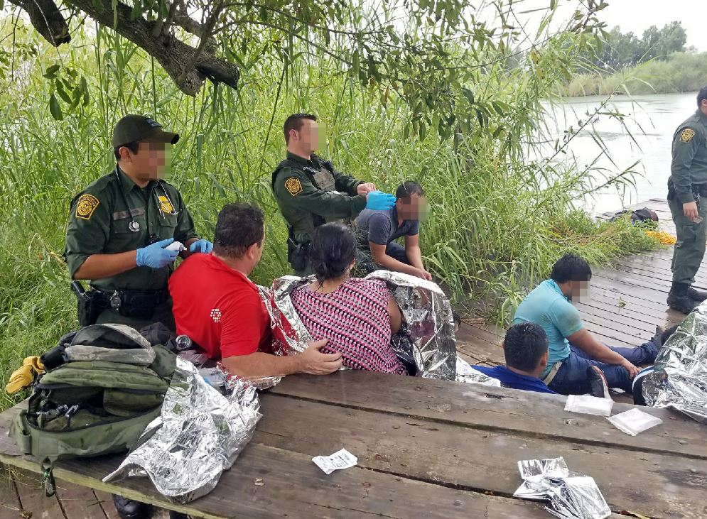 U.S. Customs and Border Protection agents rescued 14 undocumented immigrants from the Rio Grande on Thursday, according to a news release. (Photo courtesy of U.S. Customs and Border Protection)