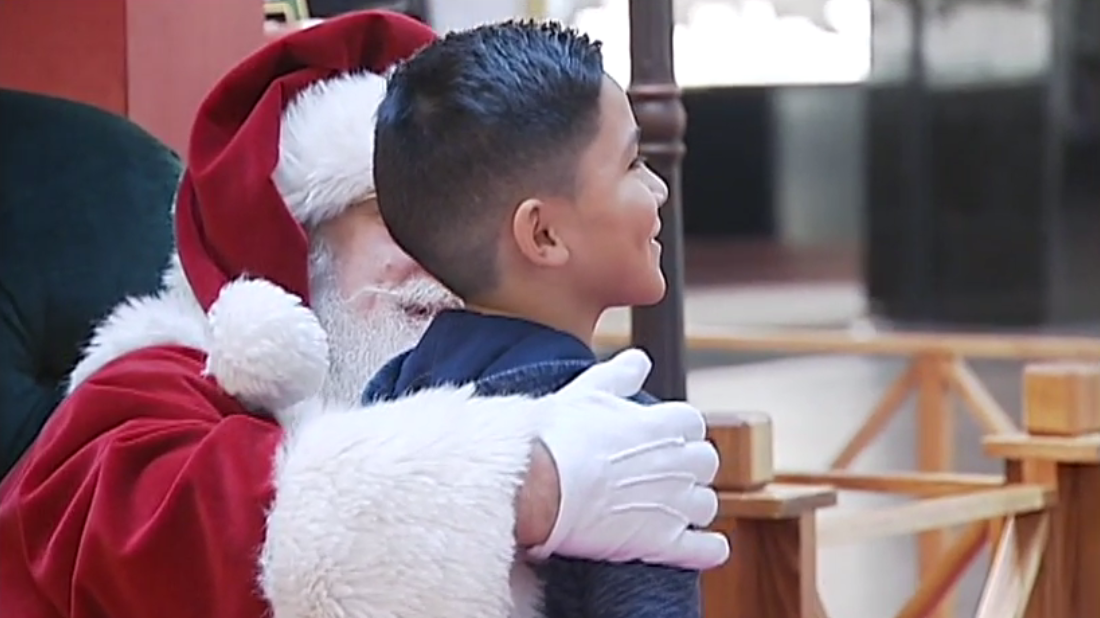 Santa Claus at Valley River Center on December 11, 2017. (Still from video by Loren Ruark)