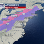 WINTER ADVISORY | Rain changing to sleet & snow overnight