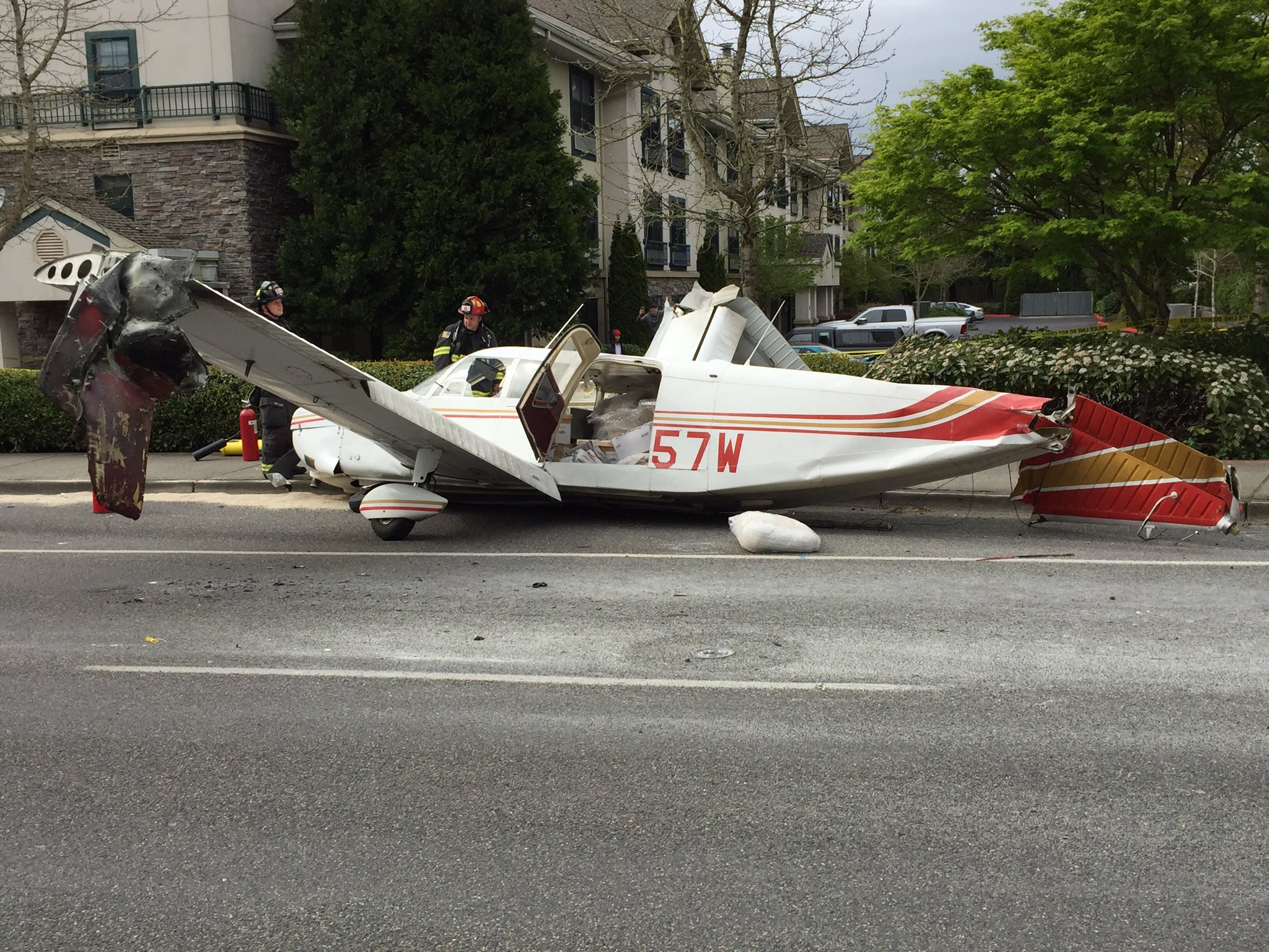 A small plane crashed near Paine Field on Tuesday afternoon, (Photo: Lynnwood Fire)