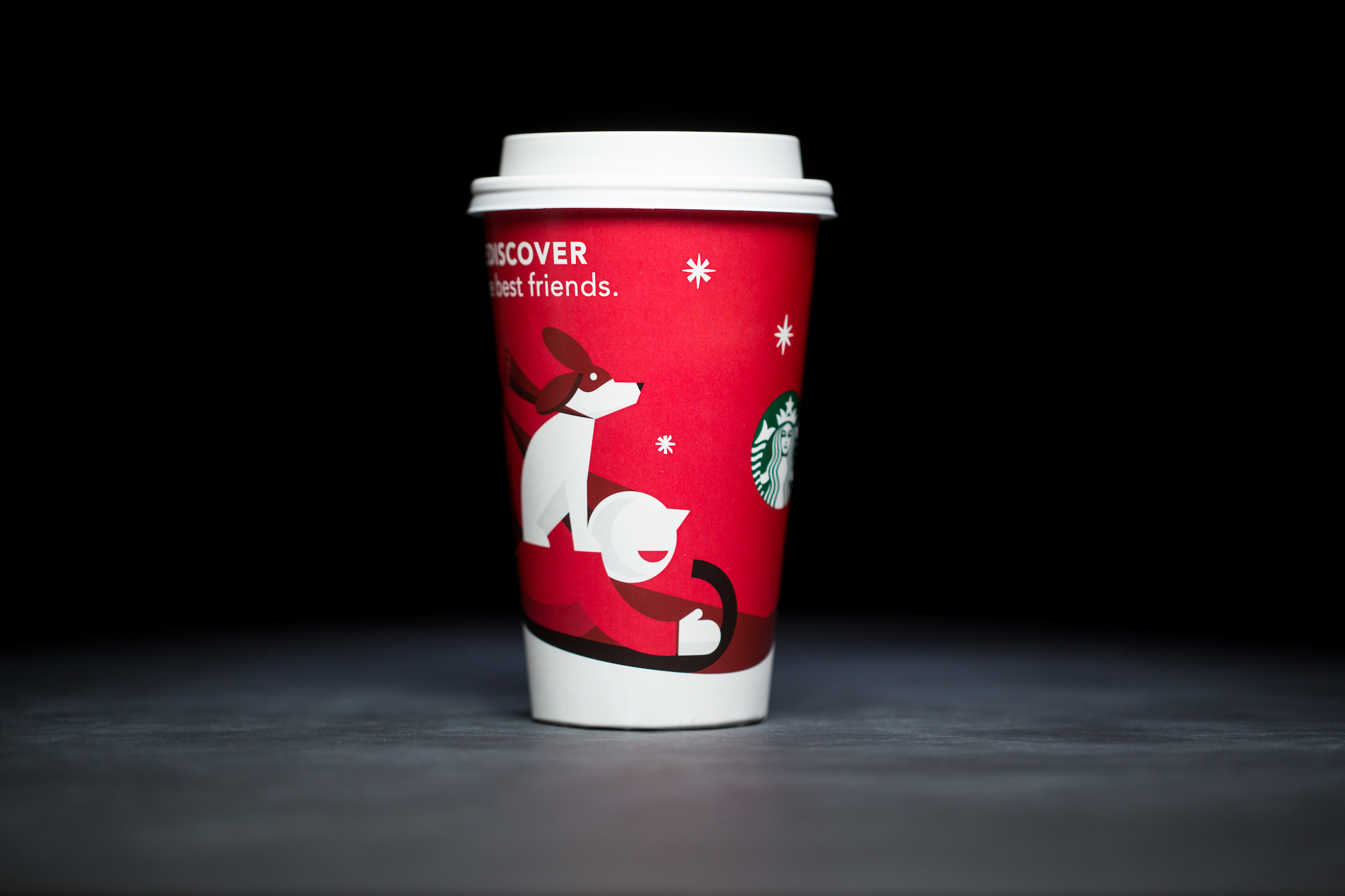 2011: For 20 years, Starbucks have released a range of holiday cup designs, most of them based around their world famous red cup. It's not easy to find the very first Starbucks holiday cups, which made their debut in stores in 1997. Few were saved, and electronic design files were lost in an earthquake in 2001. Even an Internet search is unyielding, with the cups having made their arrival long before the first selfie. But, we have them here! Click on for a photos of all 20 holidays cup designs. (Image: Joshua Trujillo/Cover Images)