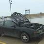 Car suffers extensive damage in parking lot fire