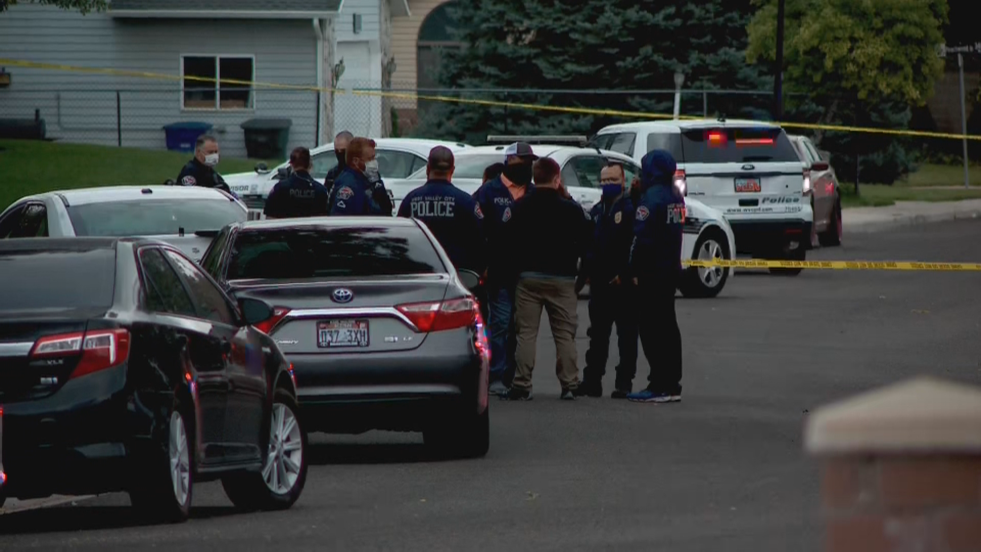 Police and investigators convene at the scene of 17-year-old Edwin Reyes's shooting death near Peachwood Park in West Valley City on June 28, 2020. (Photo: KUTV)