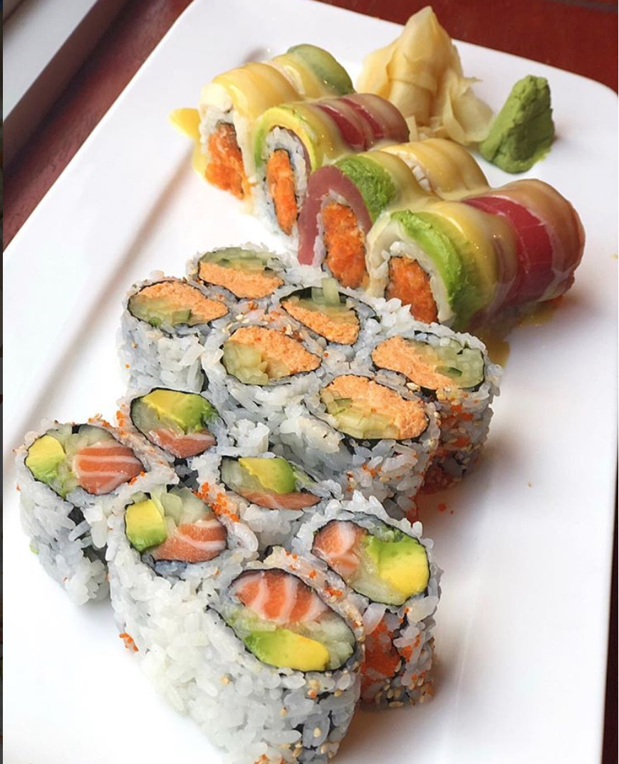 Craving sushi? Check out Momji. (Image via @thethriftyspoon)