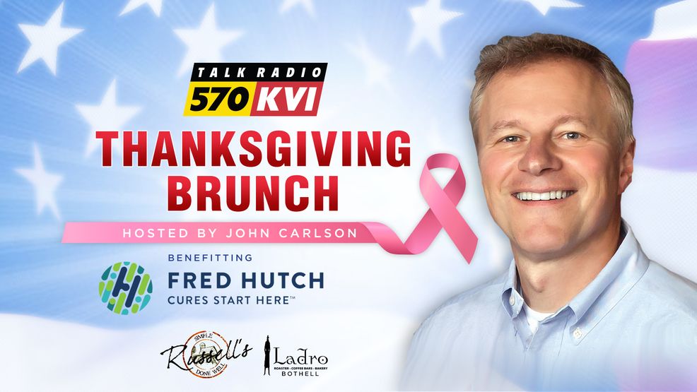 Join us for the KVI Thanksgiving Brunch hosted by John Carlson, benefitting Fred Hutch