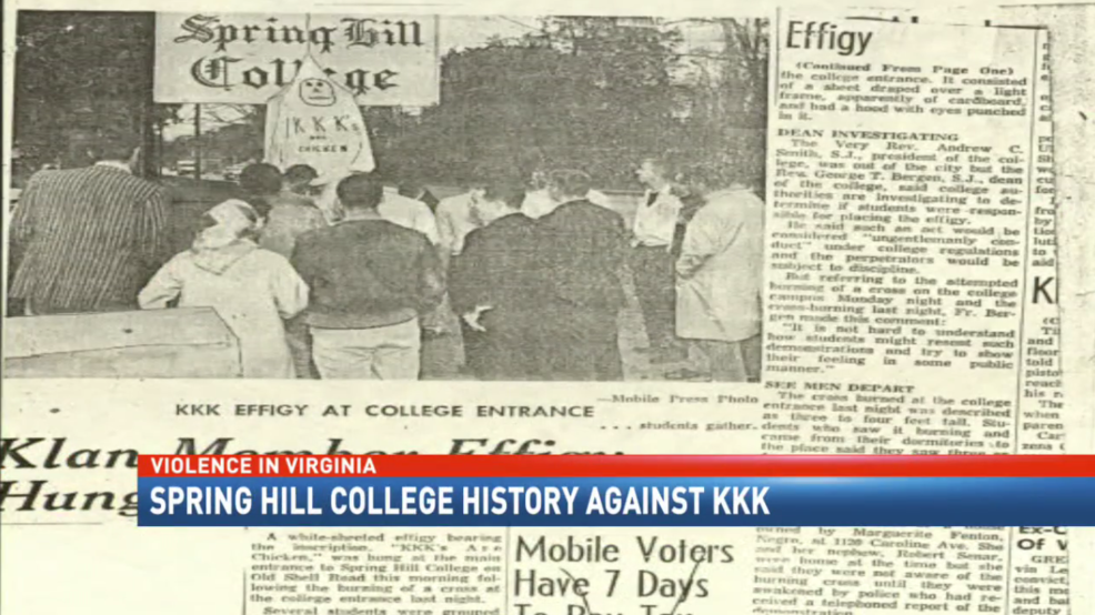 Spring Hill Colleges History Against The KKK WPMI - Kkk us map howell