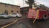 Moore firefighters battle apartment fire