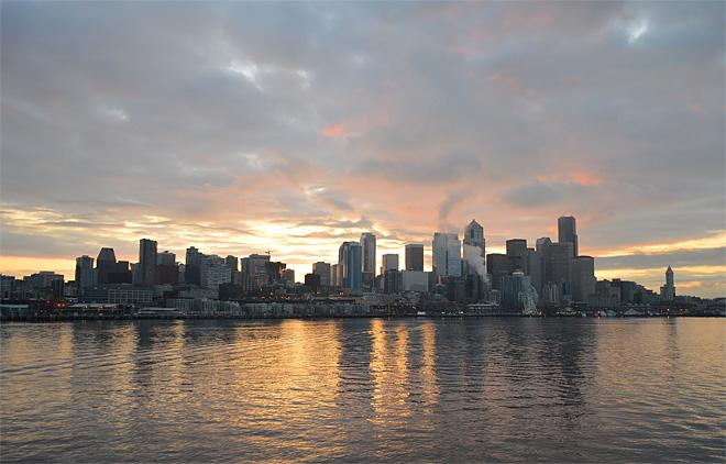 Sunrise from Bainbridge Island Ferry (Photo courtesy YouNews contributor: gsharri)