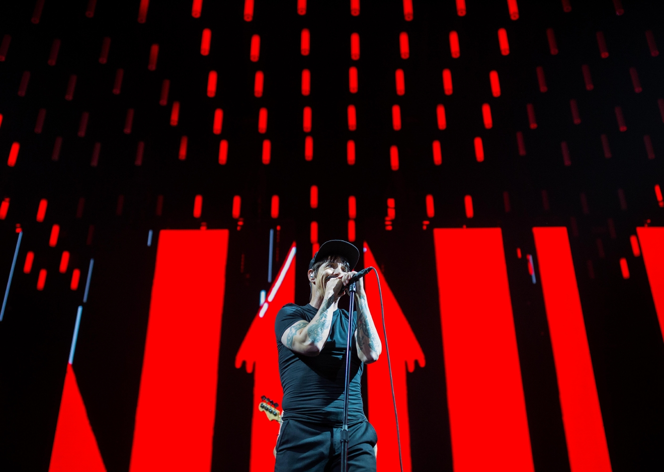 Lead singer Anthony Kiedis during the Red Hot Chili Peppers' performance at KeyArena.(Sy Bean / Seattle Refined)(Sy Bean / Seattle Refined)