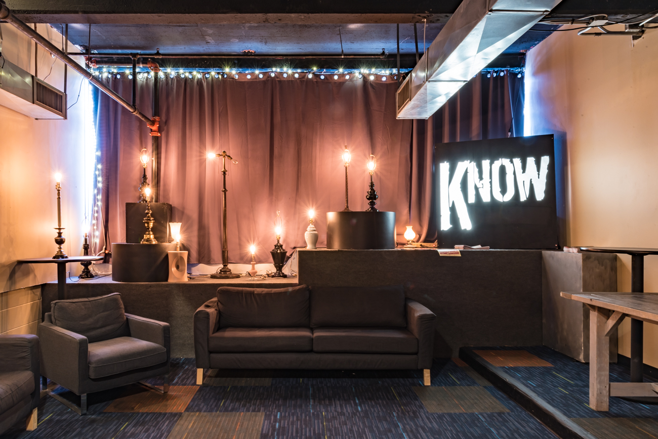 There's a full bar and lounge area on the first floor of the Know. Basically, it's the perfect hangout spot before a show. / Image: Phil Armstrong, Cincinnati Refined // Published: 2.6.17