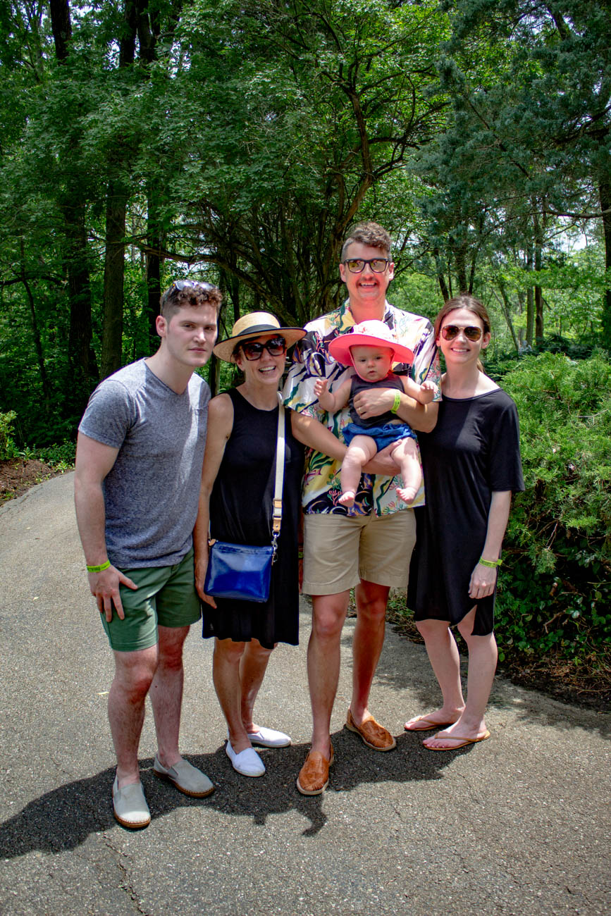 Ben Blank, Kaye Blank, and Michael & Abbey Rolf with baby Margo{ }/ Image: Katie Robinson, Cincinnati Refined // Published: 6.24.19