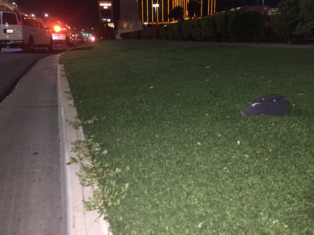 There's what appears to be a bloody trail outside the Luxor (Craig Fiegener | KSNV)