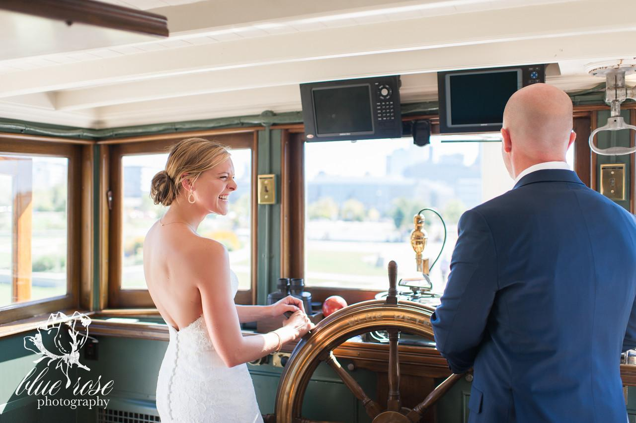 Welcome to another day of our Documenting Love series! Today's wedding is your Seattle dream boat wedding, no pun intended. Sarah and Greg got married in September of 2014 while sailing on a vintage yacht through South Lake Union. The couple we're huge foodies and brought on a personal chef to cook for their intimate wedding party - a close gathering of 25 guests. Click through the gallery and get wedding inspo, or to just gaze upon the beauty that is this glorious wedding. Do you or somebody you know have a wedding you think deserves the spotlight? We LOVE documenting love stories, so email us at hello@seattlerefined.com to submit some wedding or engagement shots! (Image: Blue Rose Photography)