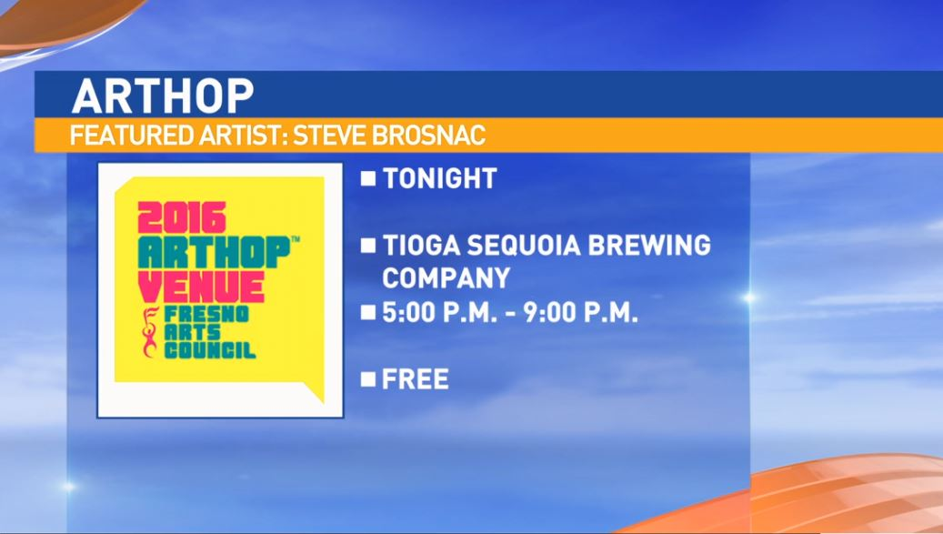 Local artist Steve Brosnac will be showing his works at Tioga Sequoia Brewing Company 5-9:00 p.m.