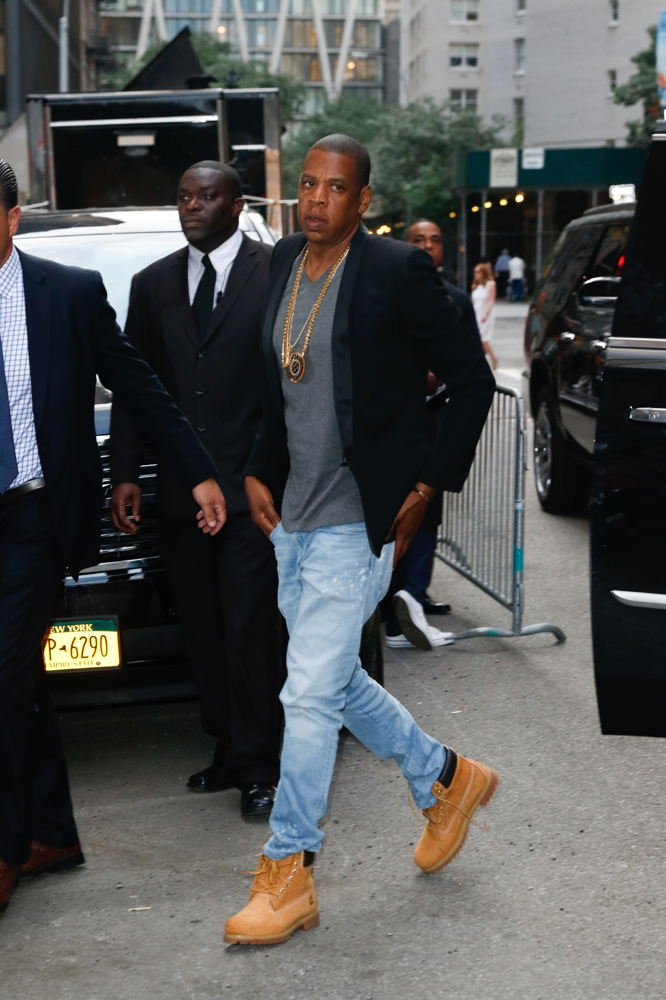New York premiere of 'Southpaw' for THE WRAP at AMC Loews Lincoln Square  - Arrivals  Featuring: Jay-Z Where: New York, New York, United States When: 20 Jul 2015 Credit: Abel Fermin/WENN.com