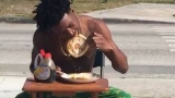 Police: Florida man cited for eating pancakes in the street