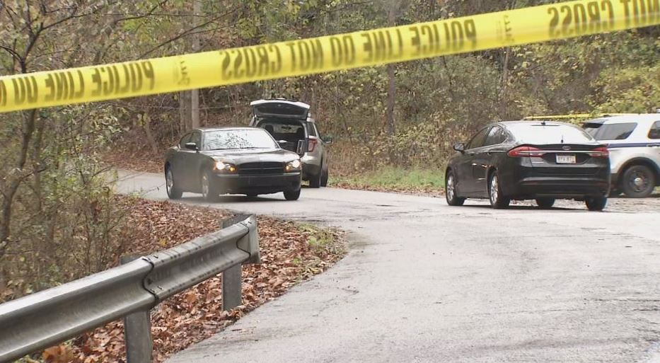 Authority vehicles park by the scene where a body was found around 1 p.m. Wednesday between Pacific Street and Garrison Avenue in Charleston. (WCHS/WVAH)<p></p>